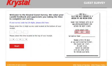 Krystal-Guest-Survey-Welcome