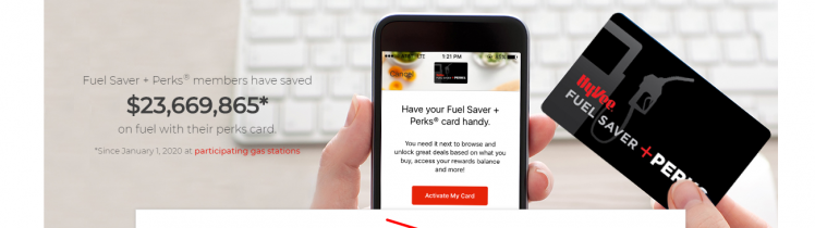 activate your Hy-Vee Fuel Saver + Perks Card