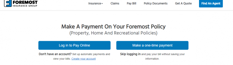 payment on your Foremost Insurance policy