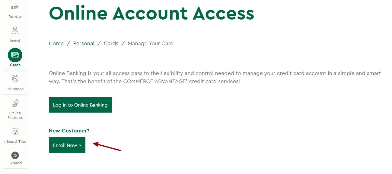 Commerce Bank Enroll