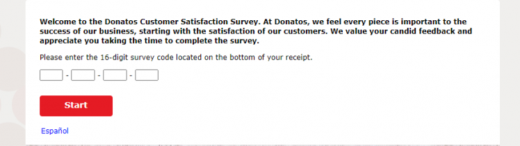 Donatos Customer Satisfaction Survey logo