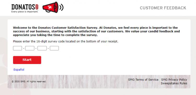 Donatos Customer Satisfaction Survey logo