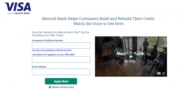 Merrick Bank Credit Card Logo