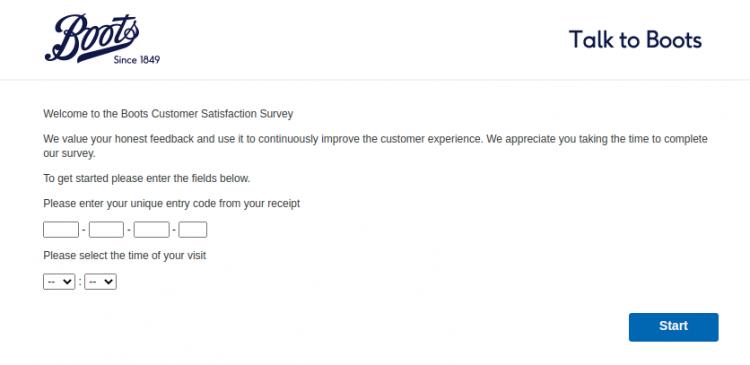 Boots UK Survey