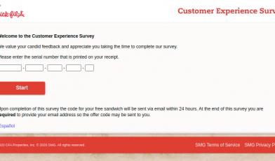 Chick fil A survey logo
