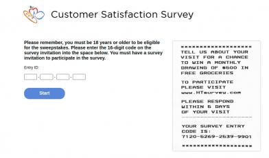 Harris Teeter Customer Survey logo