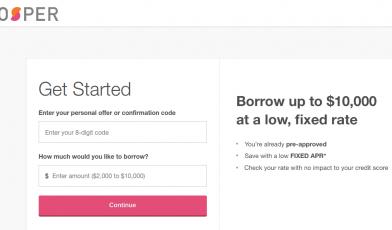 Prosper loan Apply