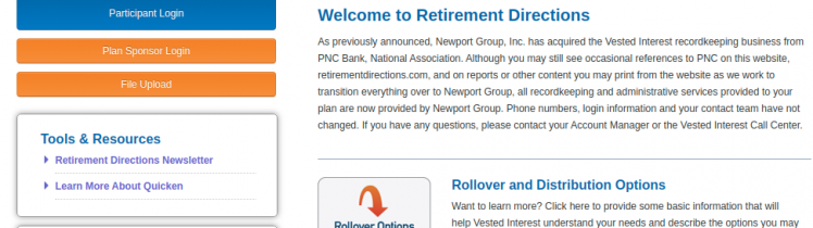 PNC retirement login