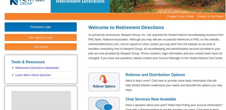 PNC retirement login