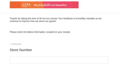Ulta Store Service Survey