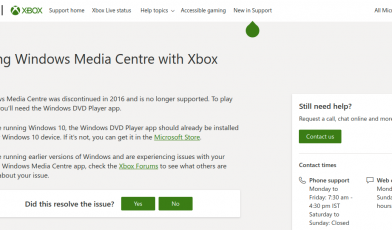 Xbox 360 Support