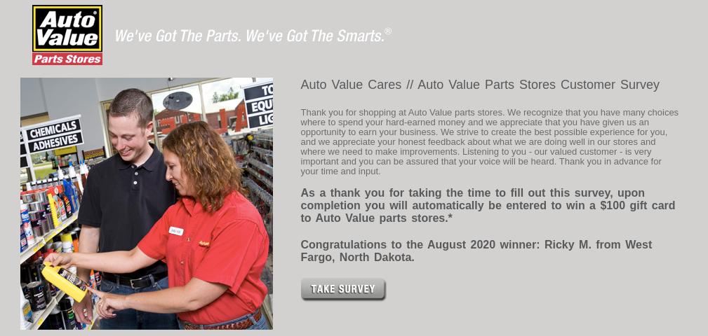 Auto Value Parts Stores Survey