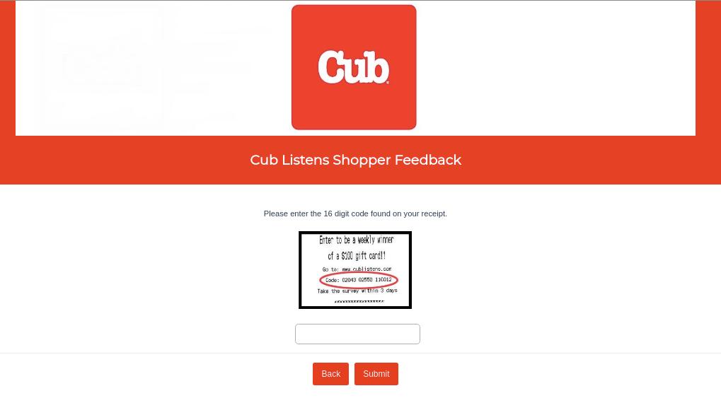 Cub Listens Shopper Survey
