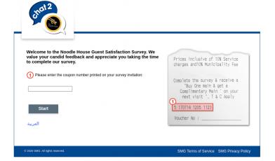 Noodle House Survey