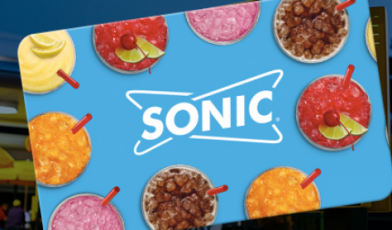 Sonic Drive In Gift Cards Logo