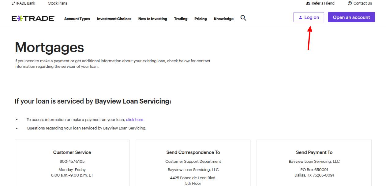 ETrade Mortgage Login