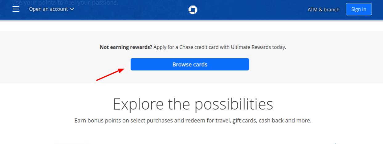 Chase Rewards Credit Cards