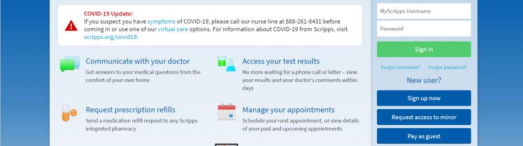 MyScripps health portal