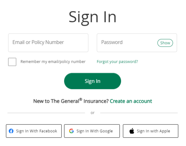 the general auto insurance login