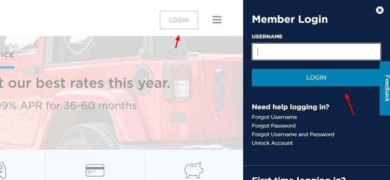 penfed credit union login