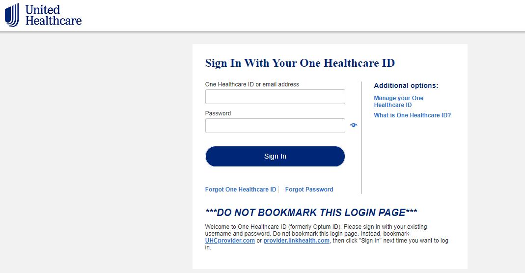 uhc provider login