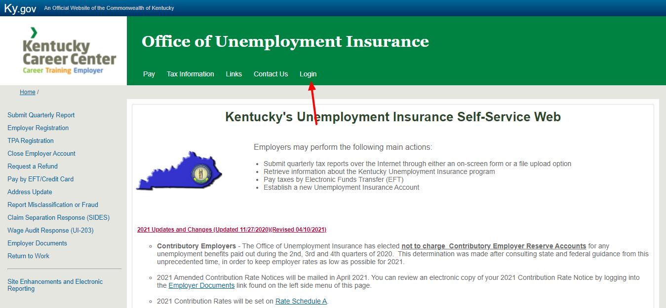 kentucky unemployment login
